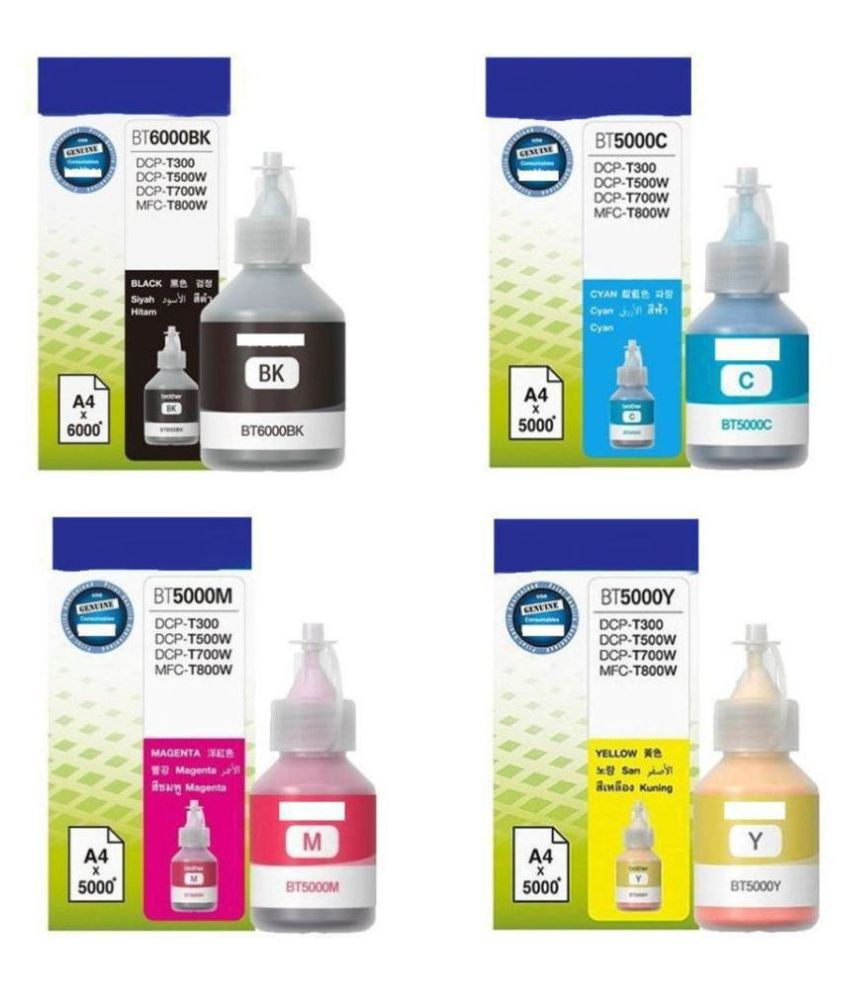verena ORIGINAL BT5000 BT6000 Multicolor Pack of 4 Ink