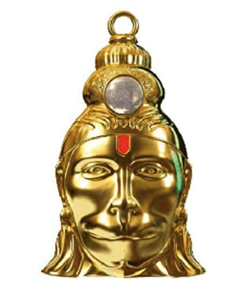 Hanuman Chalisa Yantra Locket With Chalisa Printed on Optical Lens with Gold Plated Chain | 24 k Gold plated Hanuman Chalisa Yantra Pendant | Box set |