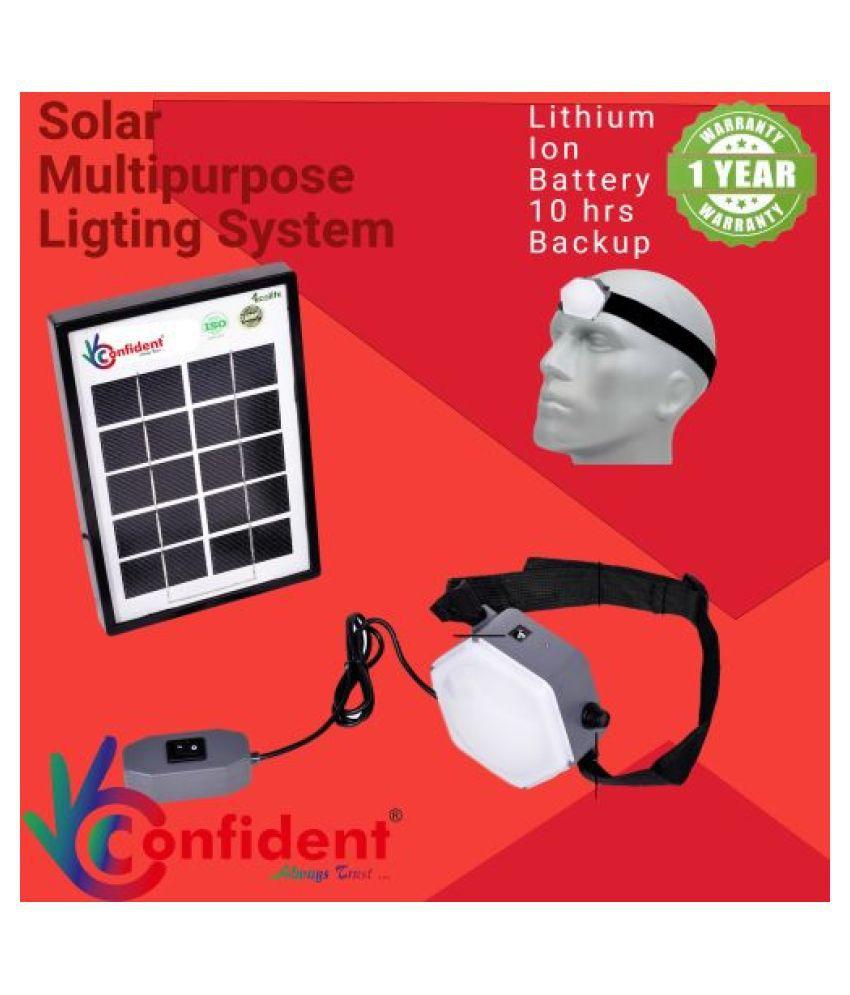 Confident Multipurpose 2W Solar Emergency Light - Pack of 1