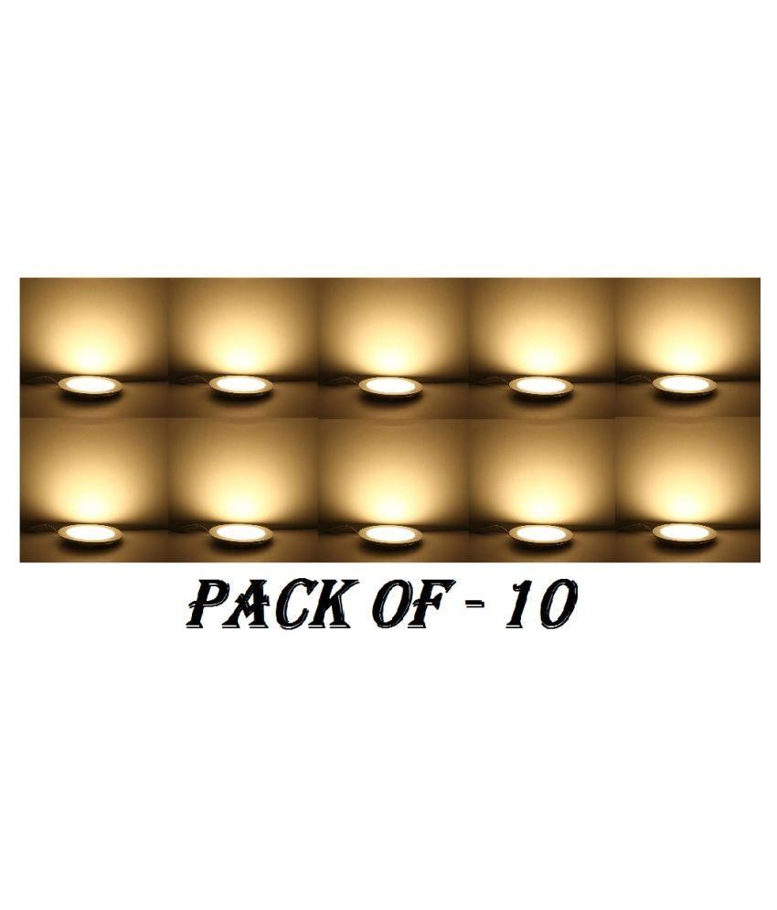 D'Mak 12W Round Ceiling Light 14.6 cms. - Pack of 10
