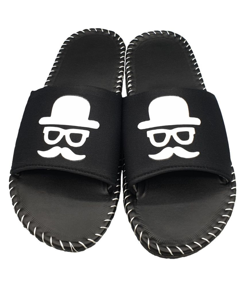 Pampy Angel Black Slide Flip flop