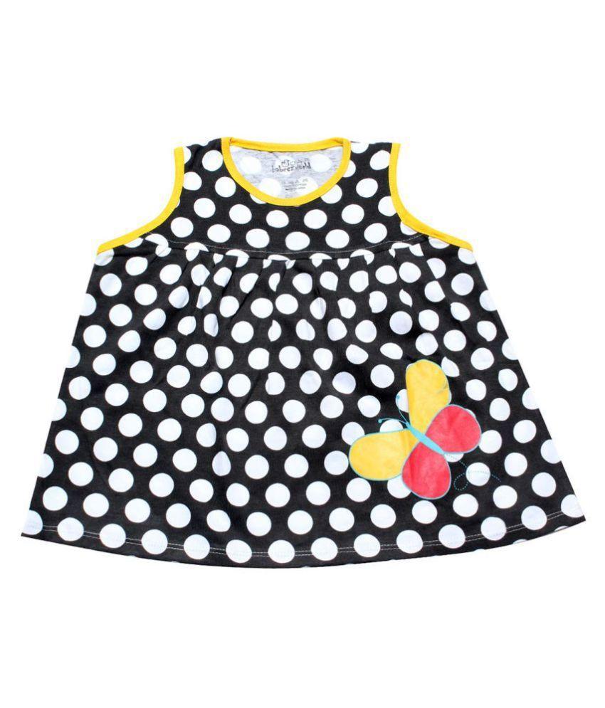 Babeezworld Baby Girl's Printed Cotton Sleeveless Frock Dress