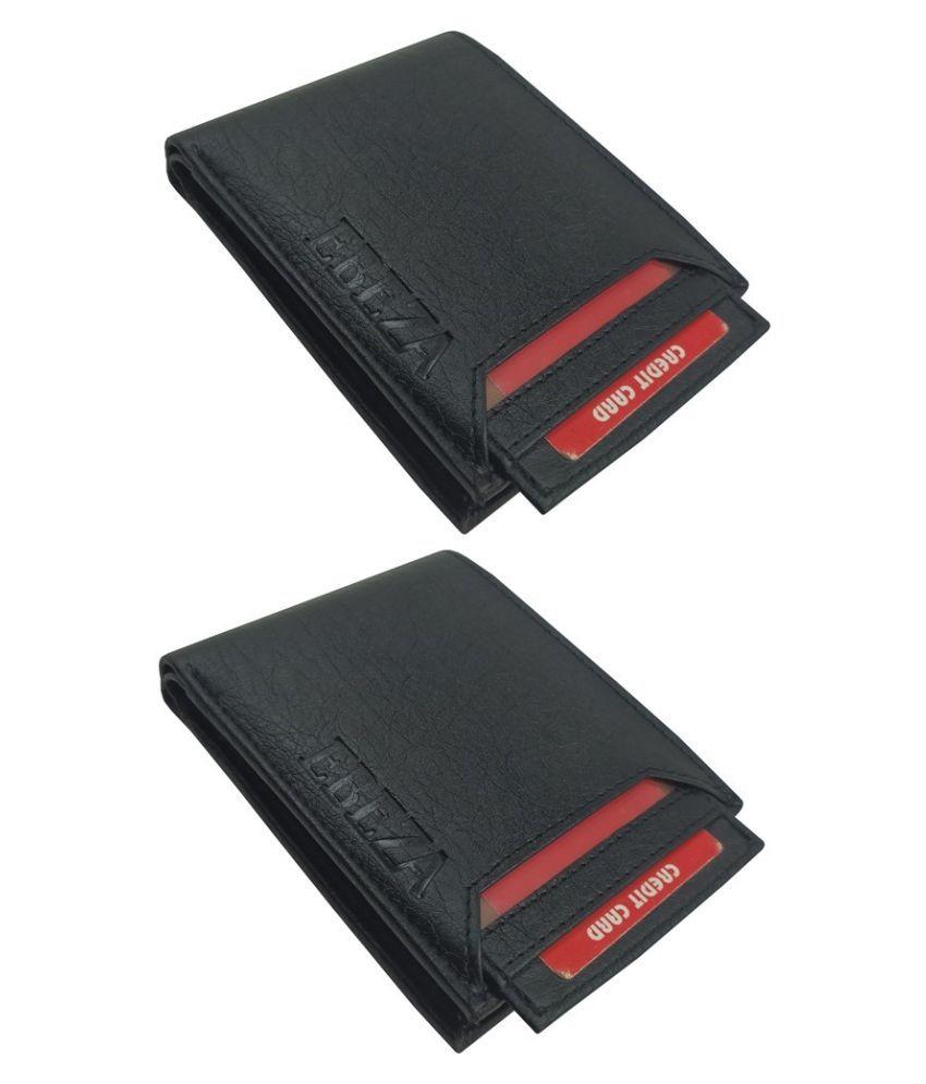 EBEZA Faux Leather Black Fashion Regular Wallet