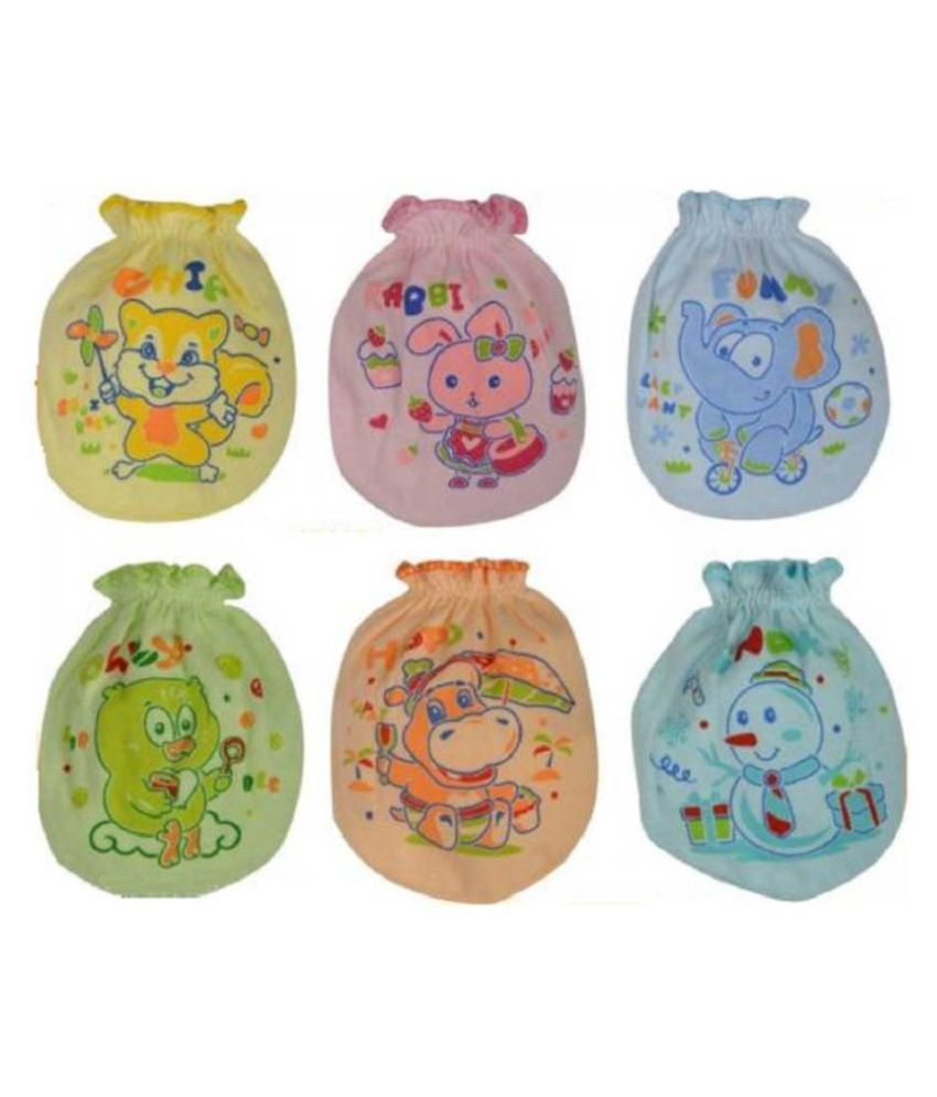 Rapid Multicolor Kids Mittens Pack Of 6 (0-6 months)