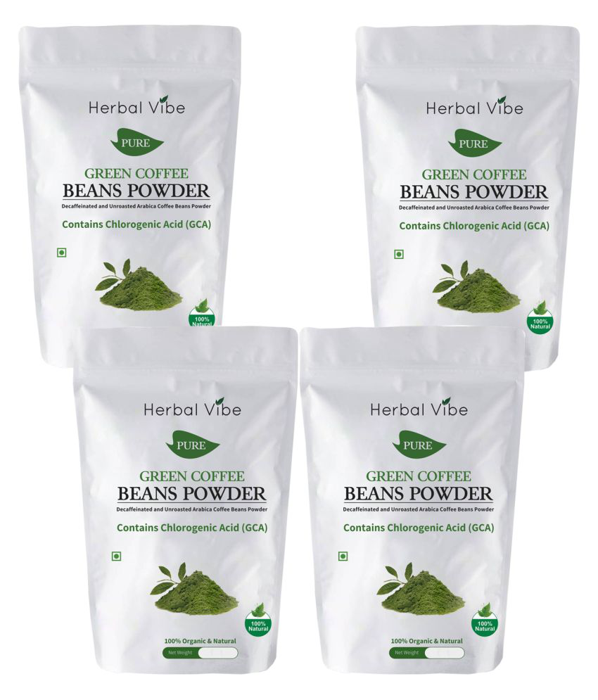 Herbal Vibe Green Coffee Bean for Weight Loss 400 gm Unflavoured Pack of 4