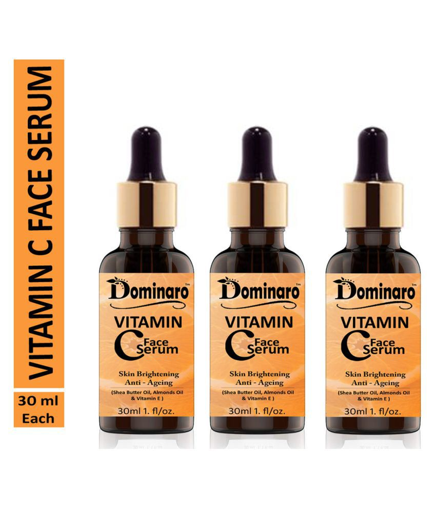 Dominaro Vitamin C Face Serum For  Skin Brightening Skin Toning & Anti Ageing Face Serum Face Serum 90 mL Pack of 3