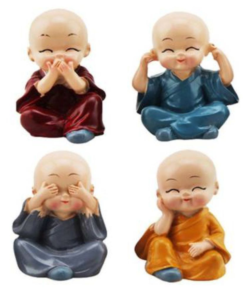 AFTERSTITCH Divinity Monk Buddha Idols Assorted-Pack of 4