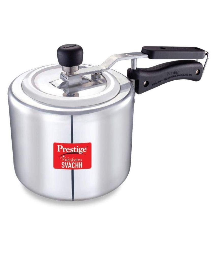 Prestige NakshatraPlus Svachh 3 L Aluminium InnerLid Pressure Cooker Without Induction Base