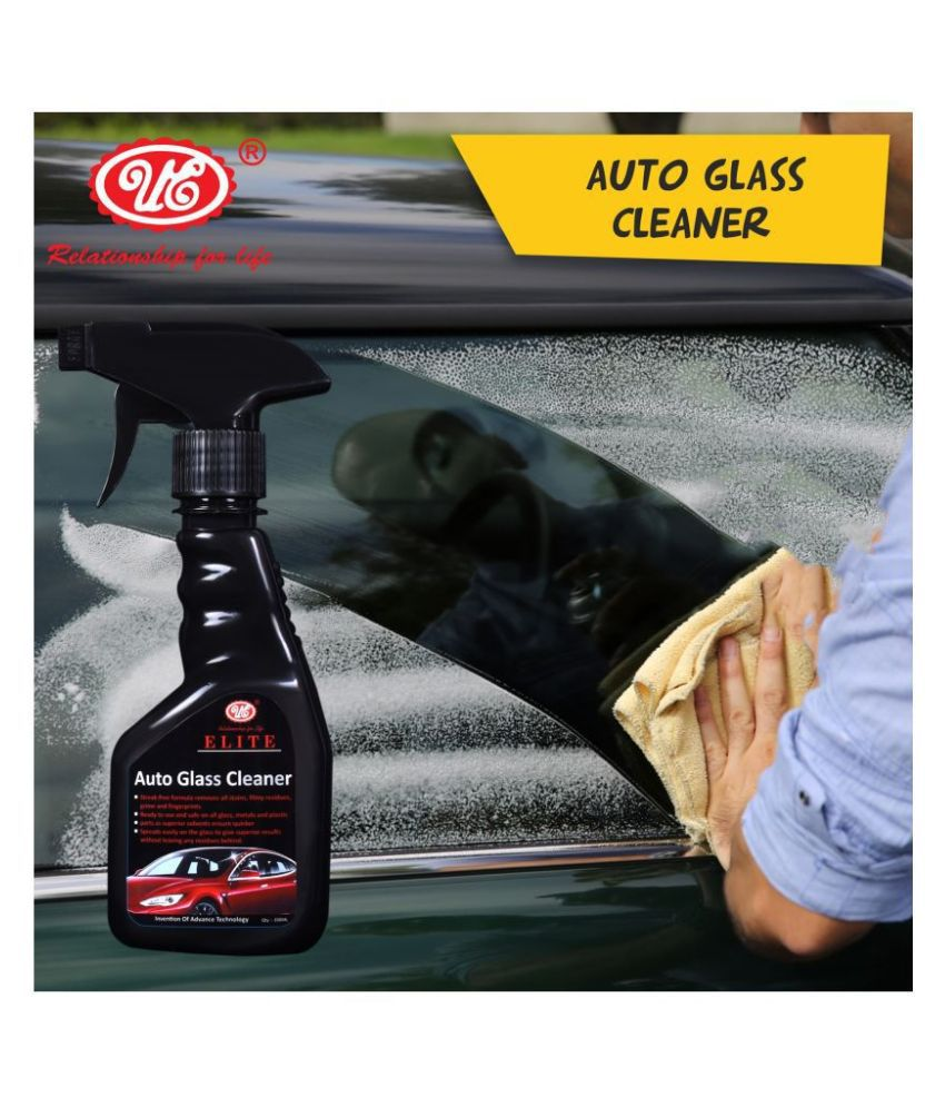 UE Elite Glass Cleaner, Removes All Stains, Grime and Fingerprints For All Vehicle and Multi Purpose Use - 200 ml Car Care/Car Accessories/Automotive Products