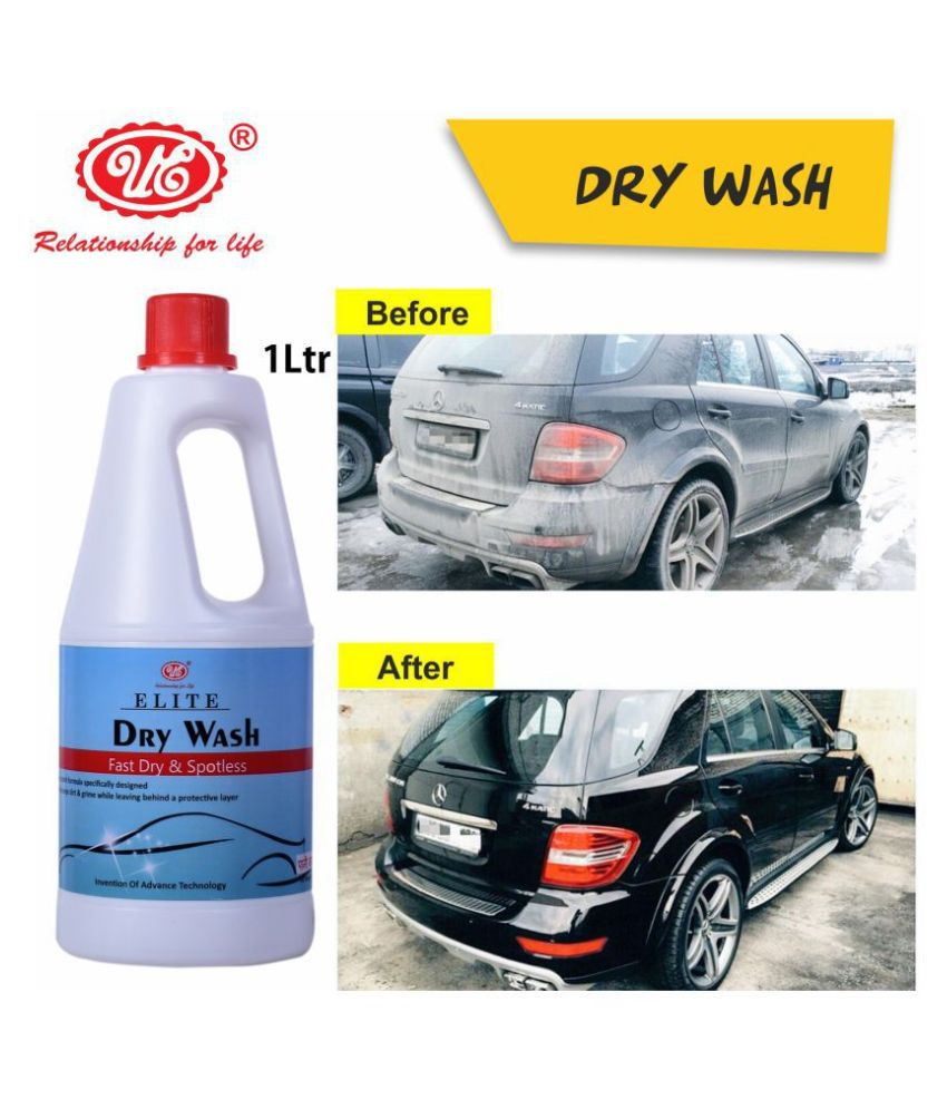 UE Elite Waterless Dry Car Wash Concentrate RAW Xtreme CX Carnauba Wax Rinseless/Waterless Auto Wash Concentrate - 1 Liter Car Care/Car Accessories/Automotive Products