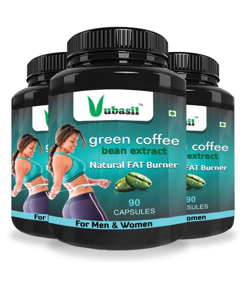 VUBASIL Best Green Coffee Weight Loss Immunity Booster 270 Capsule 800 mg Pack of 3