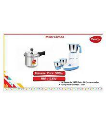 Pigeon Mixy + Cooker Combo 550 Watt 3 Jar Mixer Grinder