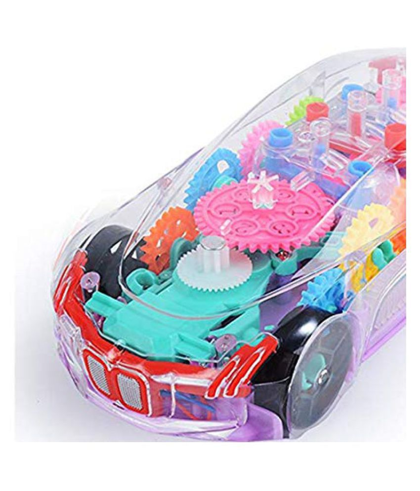 Transparent Concept Car 3d Super Car Toy Car Toy For Kids With 360 Degree Rotation Gear Simulation Mechanical Car Sound Light Toys For Kids Boys Girls Buy Transparent Concept
