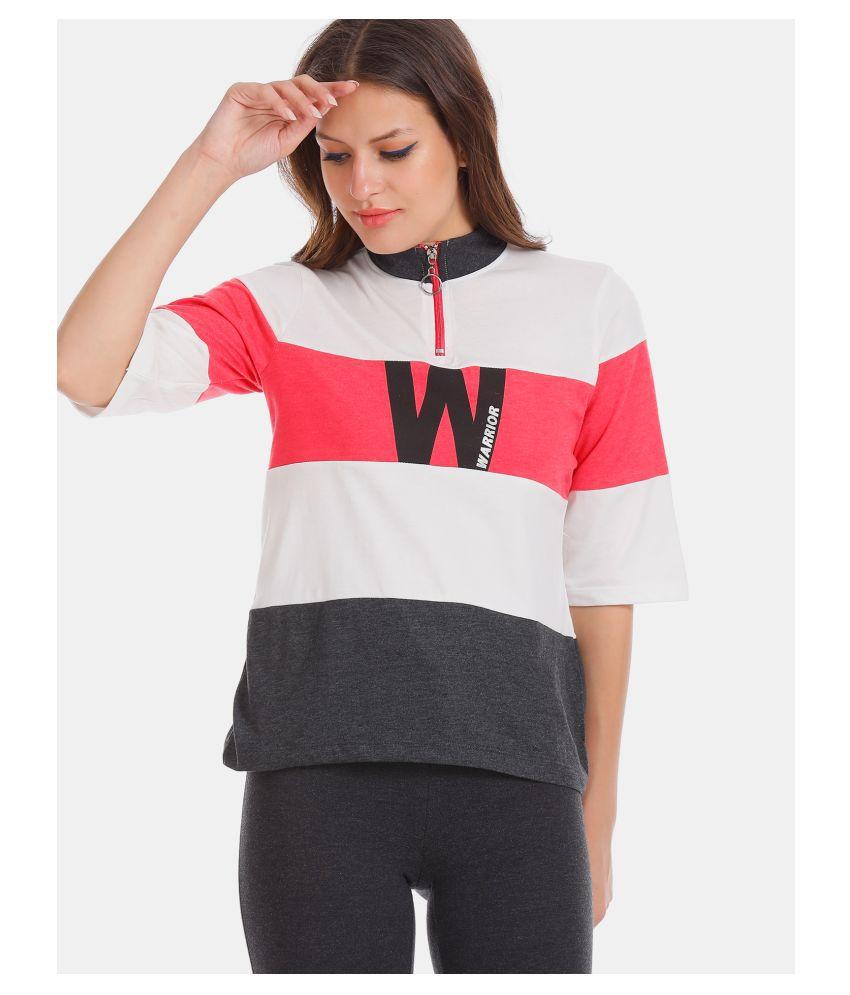 Sugr Cotton Multi Color Zippered Sweatshirt