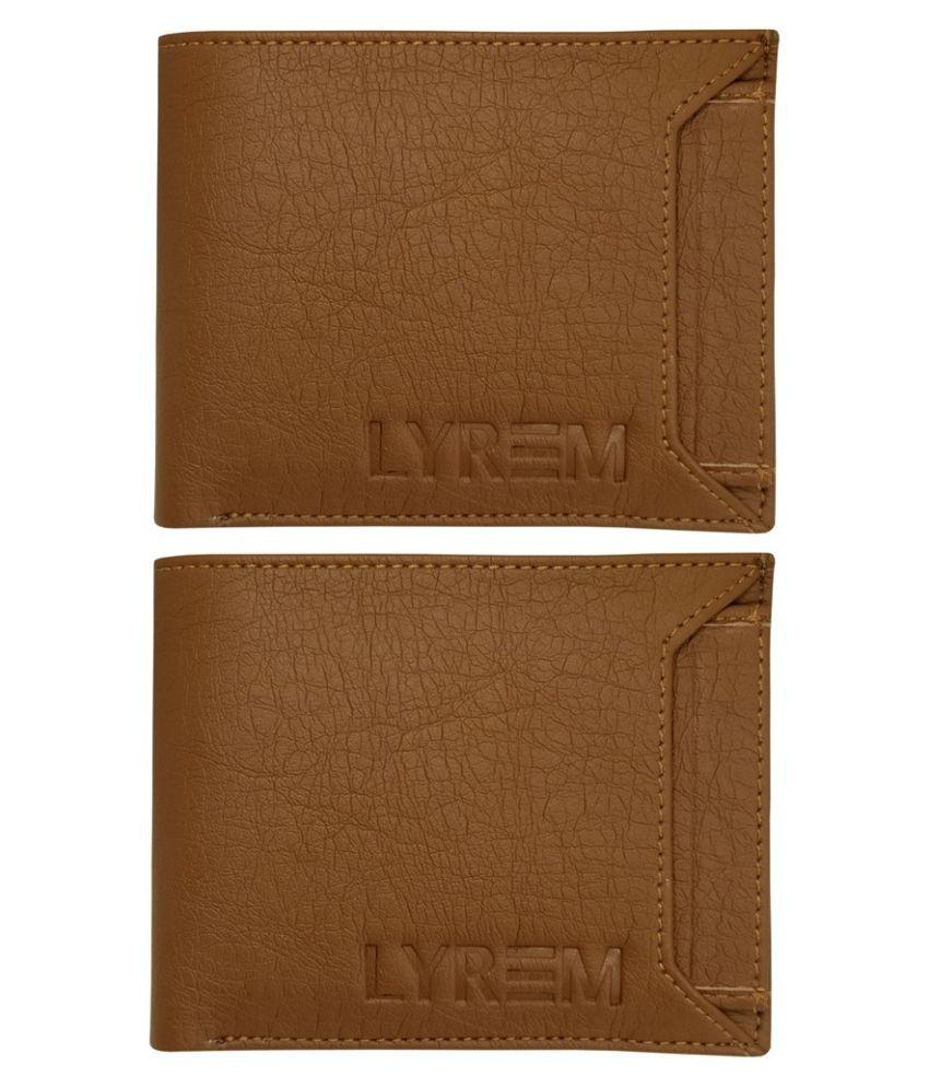LYREM PU Tan Sport Regular Wallet