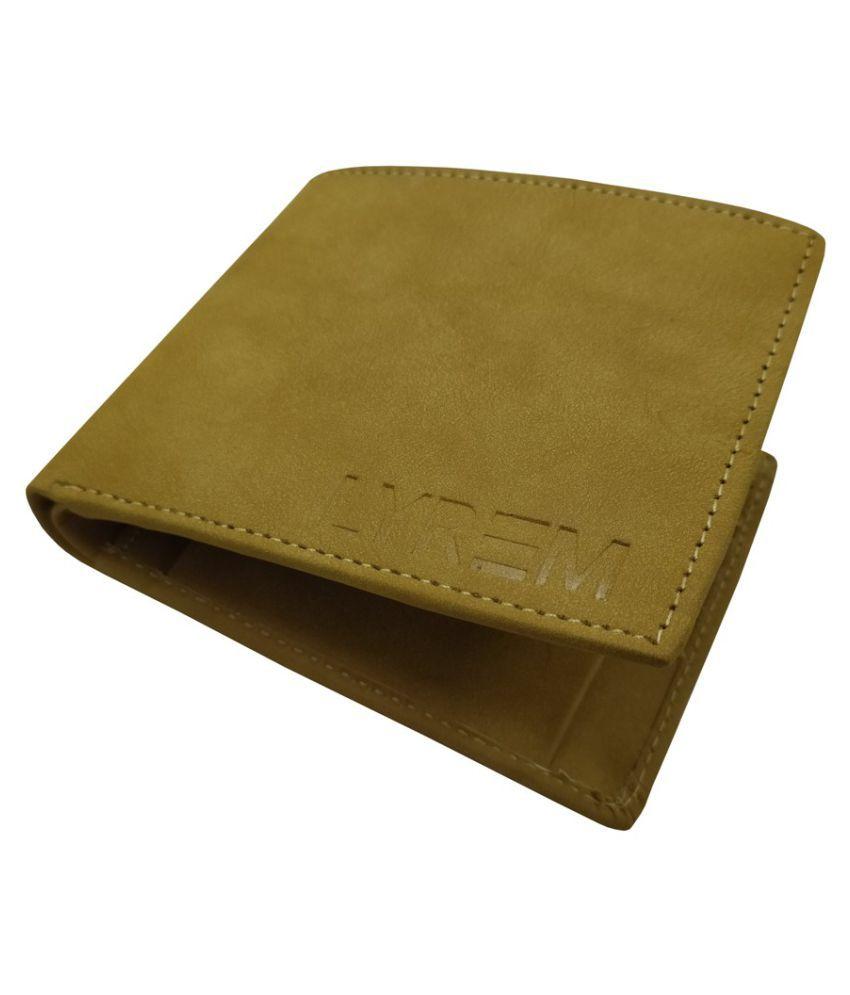 LYREM PU Beige Casual Regular Wallet