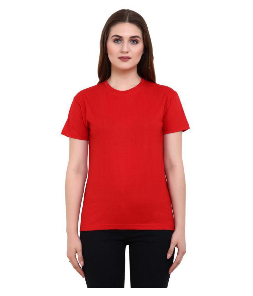 36FAHRENHEIT Cotton Red T-Shirts