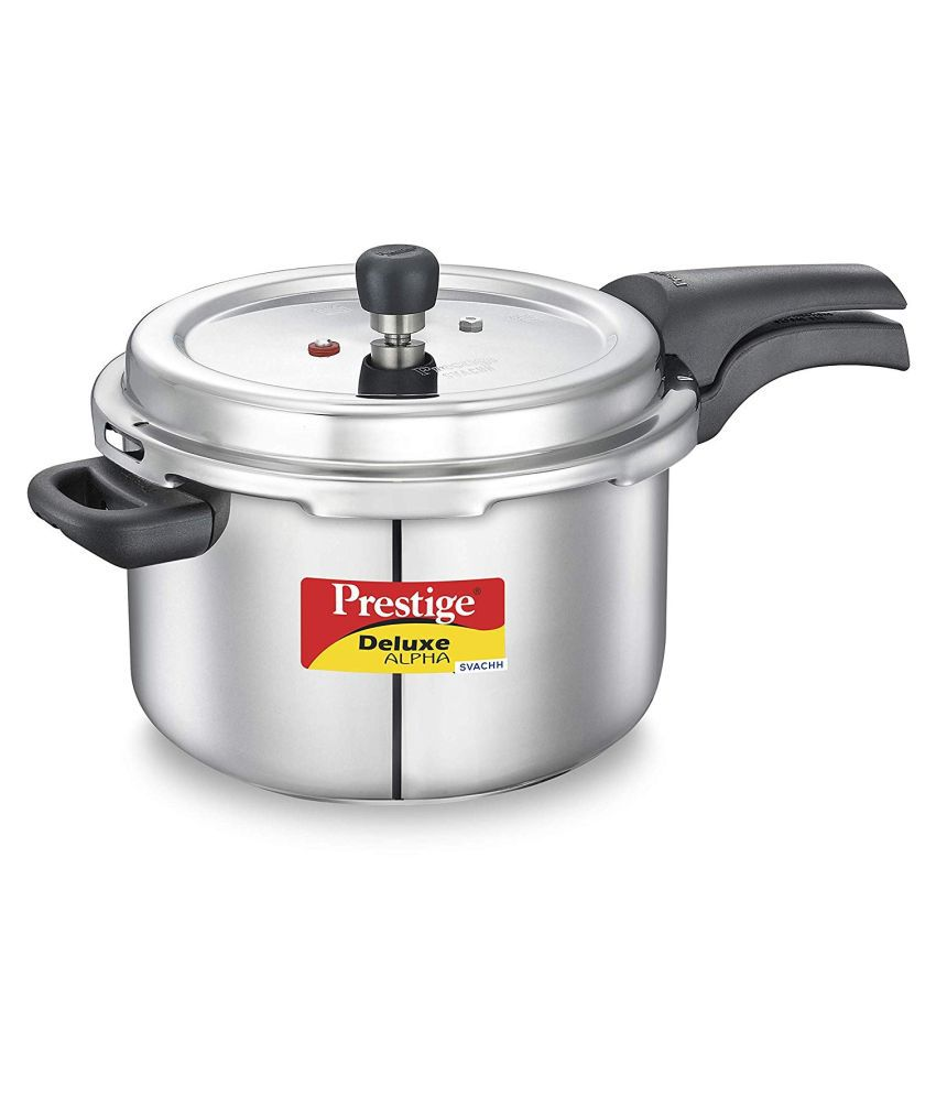 Prestige Deluxe Alpha Svachh 6.5 L Stainless Steel OuterLid Pressure Cooker With Induction Base