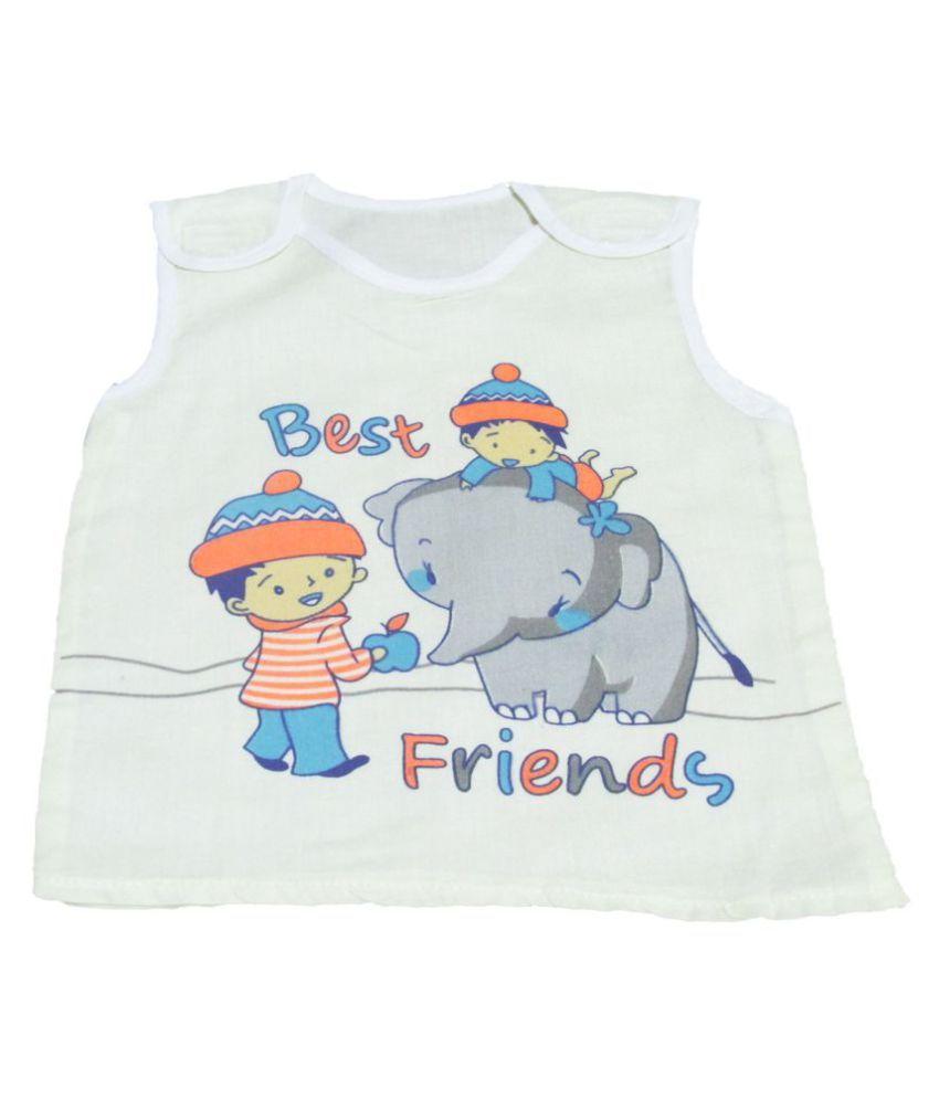 VBaby Unisex Baby Top, Skin friendly Baby Tees,Undershirt Tank Organic Cotton Sleevless Tshirt Vest 0-12 Months