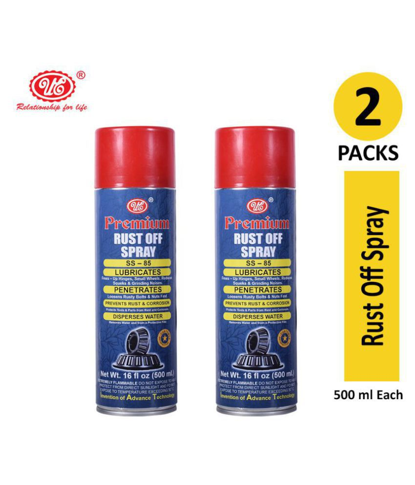 UE Premium Rust off Spray for rust Loosener Maintenance and Lubricant Multi-Function-500 ML (Pack of 2)