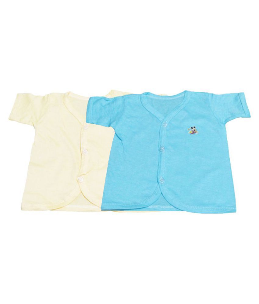 VBaby Unisex Baby Top, Skin friendly Baby Tees,Undershirt Tank Organic Cotton Half Sleeve shirt 0-12 Months