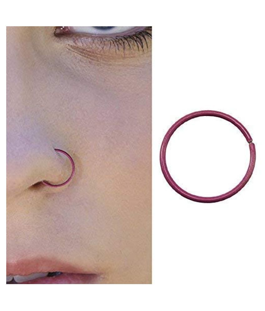 Noser Ring 925 Sterling Silver Pink Color 1mm Dm Nose Pin Nose Ring Nose Stud For Women Girl 1 Pair Buy Noser Ring 925 Sterling Silver Pink Color 1mm Dm Nose Pin Nose Ring Nose