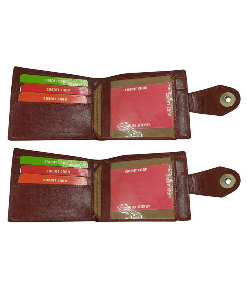 EBEZA Faux Leather Brown Formal Regular Wallet