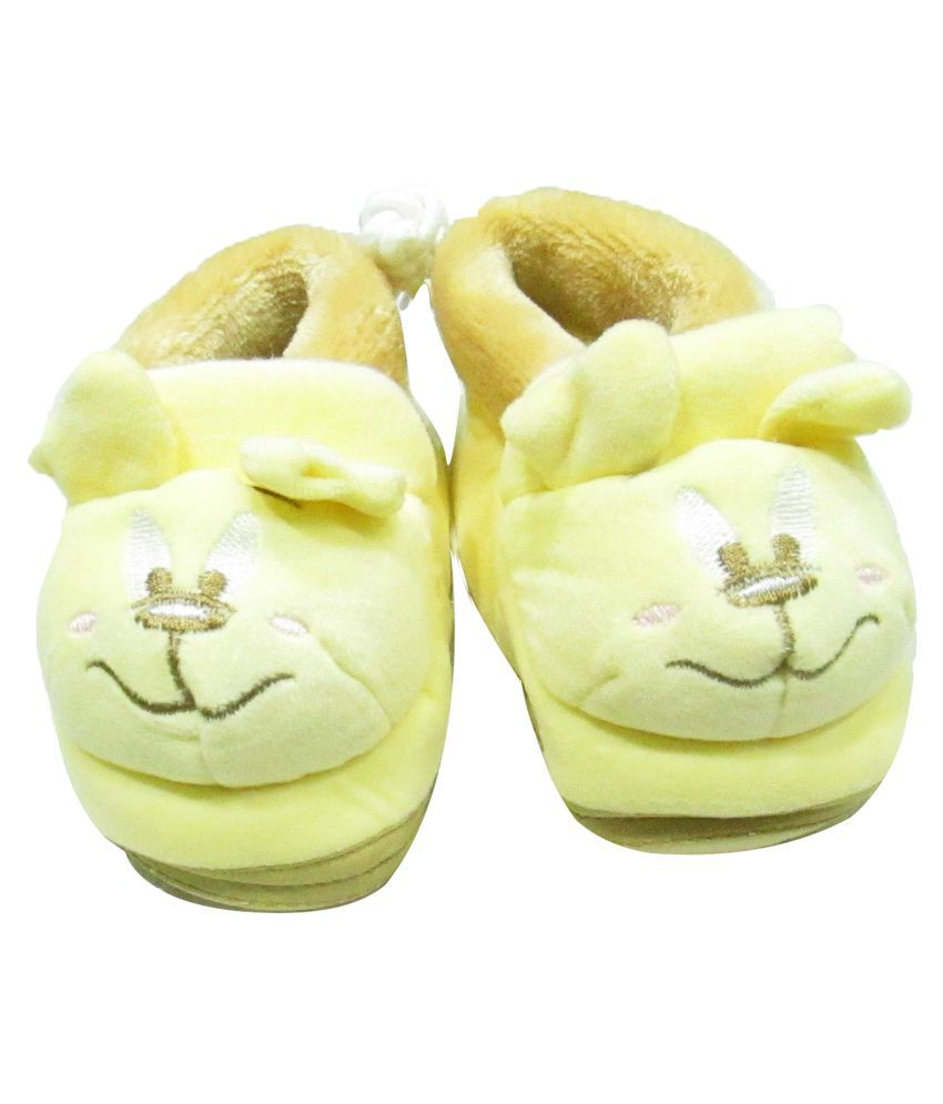 VBaby Soft Organic First Walking Shoes Baby Bootie With Rubber Sole for Baby Boys and Baby Girls