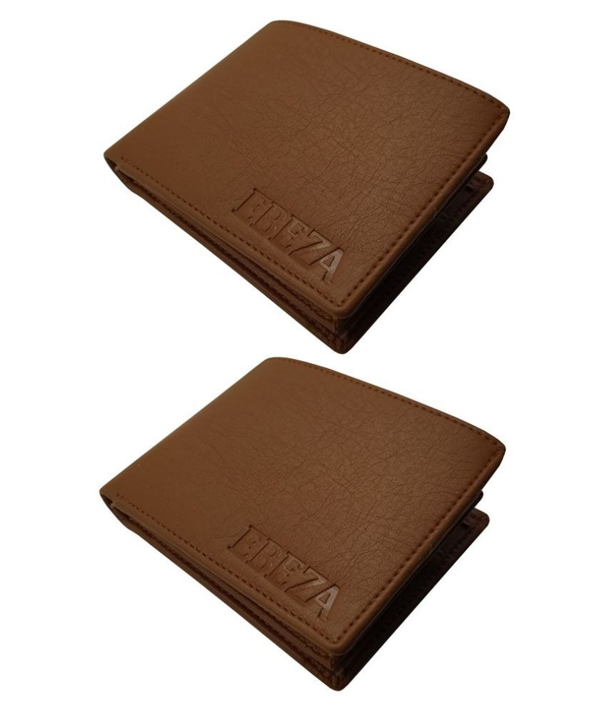 EBEZA Faux Leather Tan Sport Regular Wallet