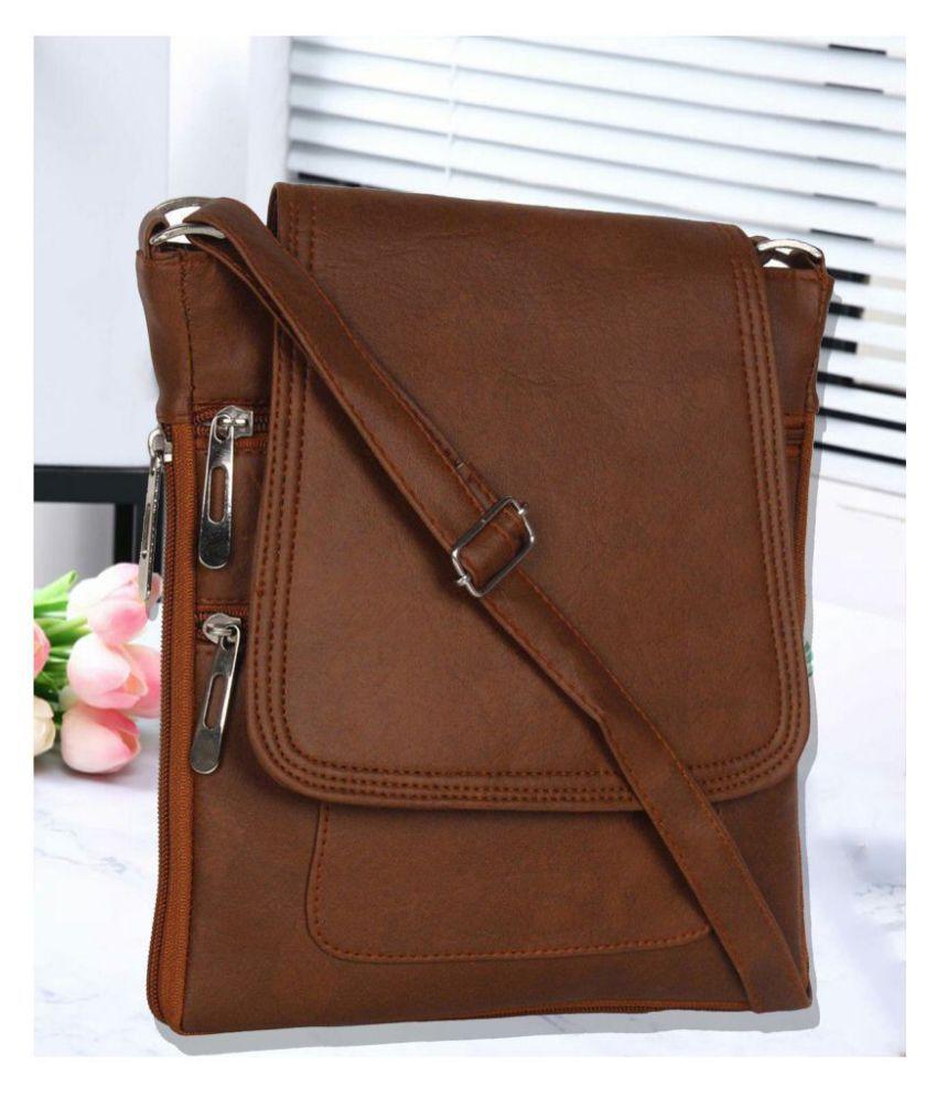 Ratan's Brown P.U. Sling Bag