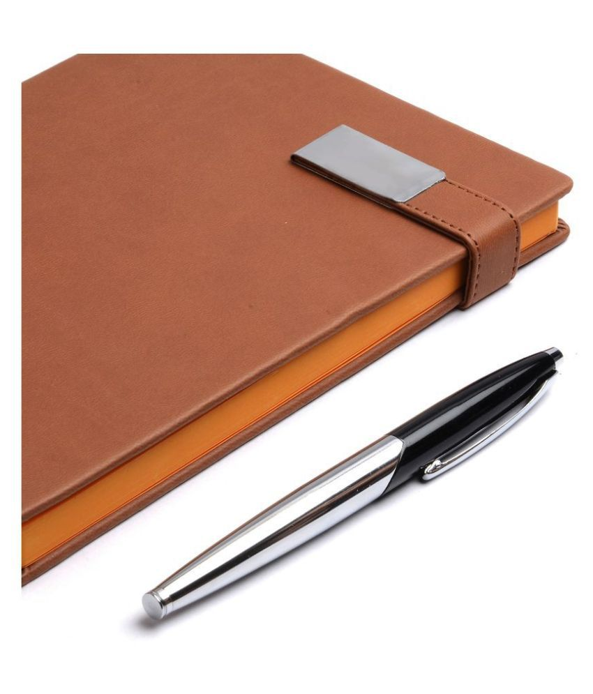 COI TAN BROWN UNDATED NOTEBOOK DIARY - Unique A5 Pocket Stationery Travel Journal, Monthly, Yearly Planner, Corporate gifts for men and women with Pen and Magnetic Lock.