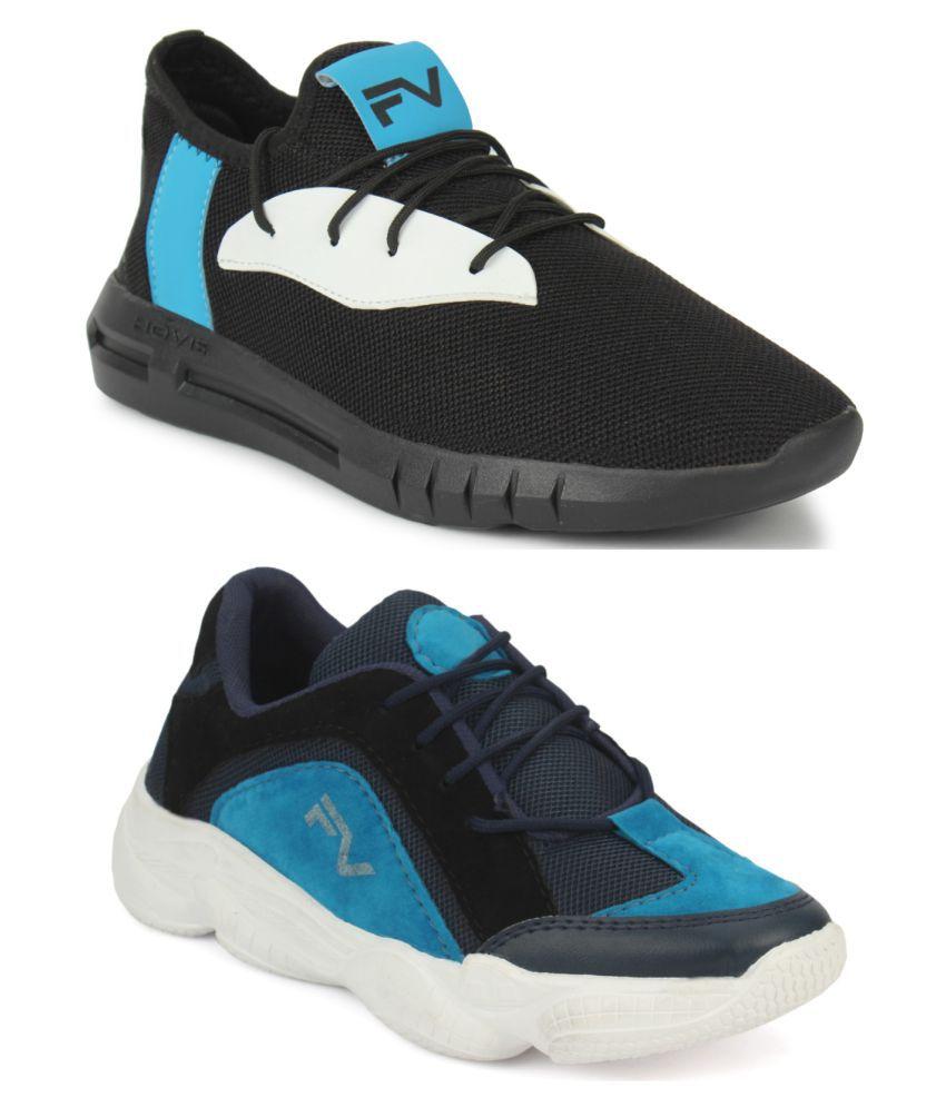 Fashion Victim Blue Casual Shoe Combo