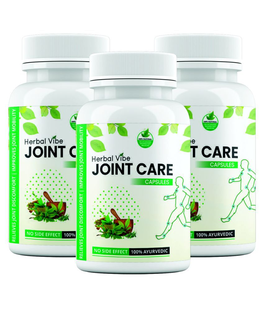 Herbal Vibe Joint Pain Tablet Joint Care Capsule 30 no.s Pack of 3