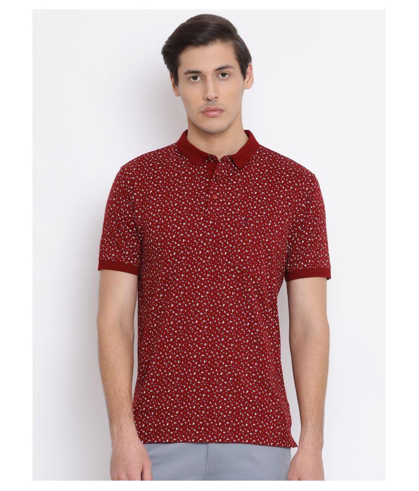 Crimsoune Club 100 Percent Cotton Red Printed T-Shirt