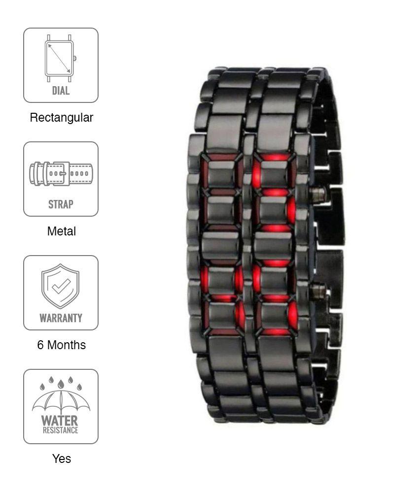 R1O Red Metal Digital Men's Watch