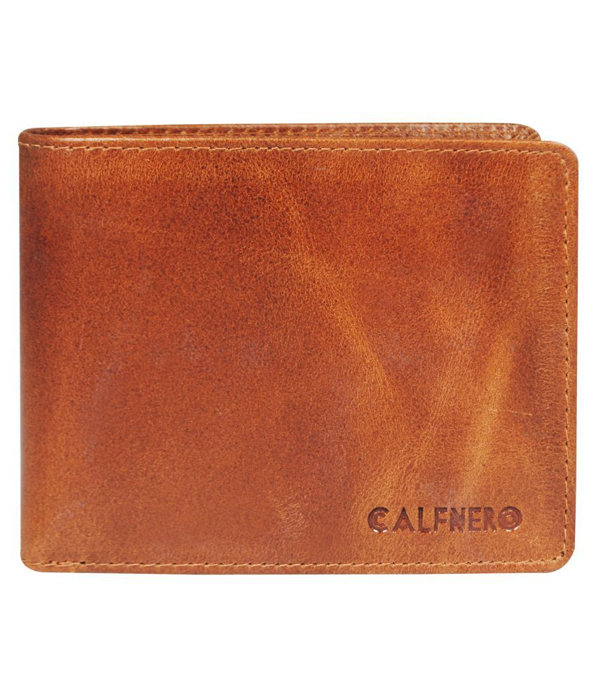 Calfnero Leather Khaki Casual Regular Wallet