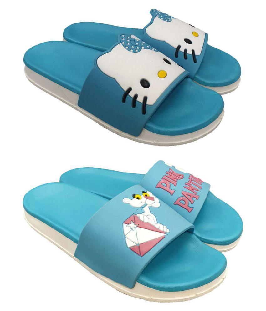 Pampy Angel Blue Slides