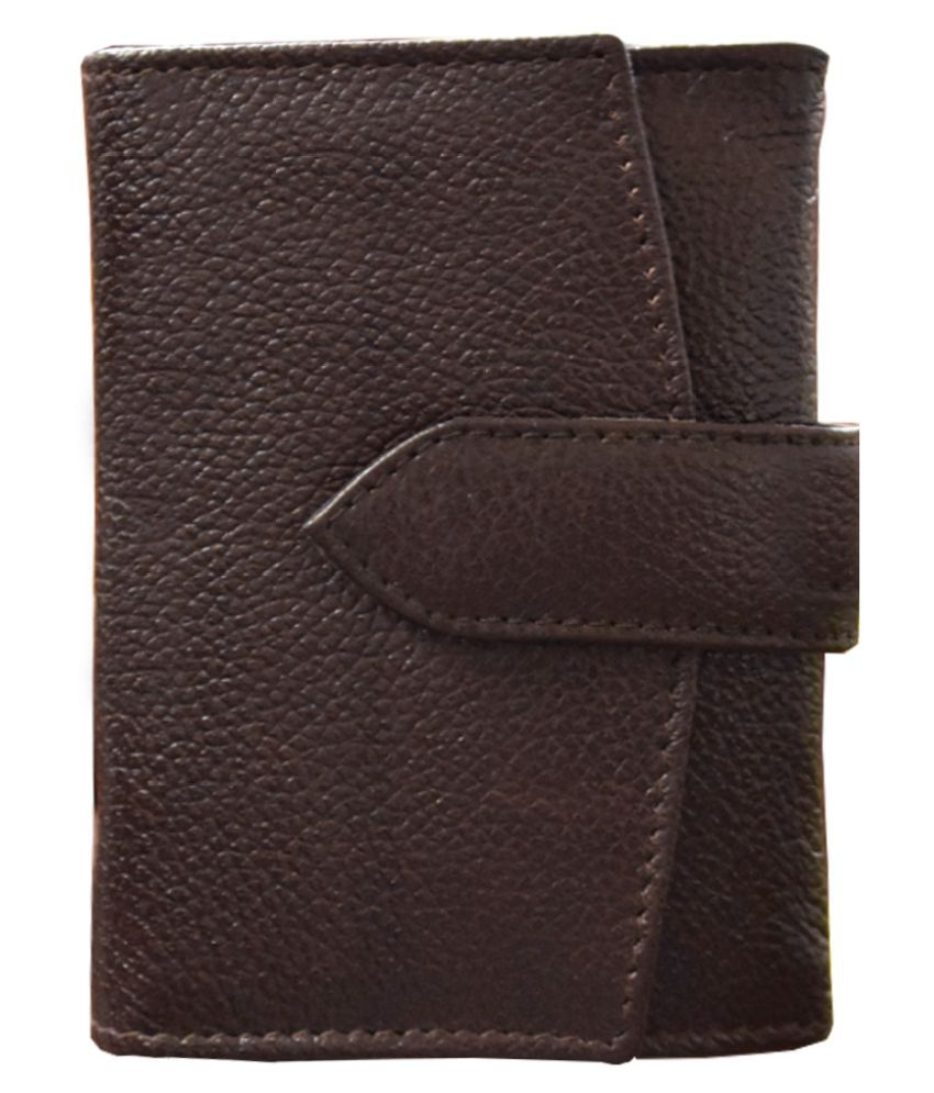 Vegan Leather Maroon Casual Short Wallet
