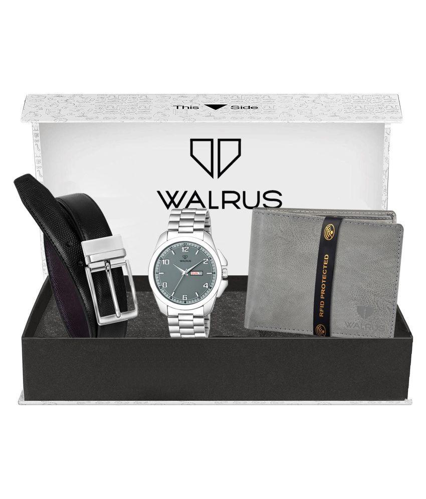 Walrus WWWBC COMBO28 Metal Analog Men #039;s Watch