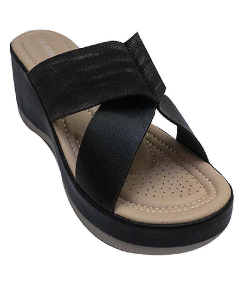 shoesme Black Slippers