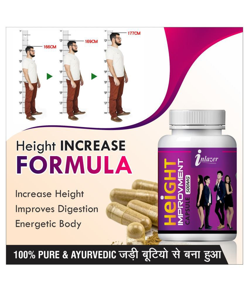 Inlazer Height improvement increases vitality  Capsule 60 no.s Pack Of 1