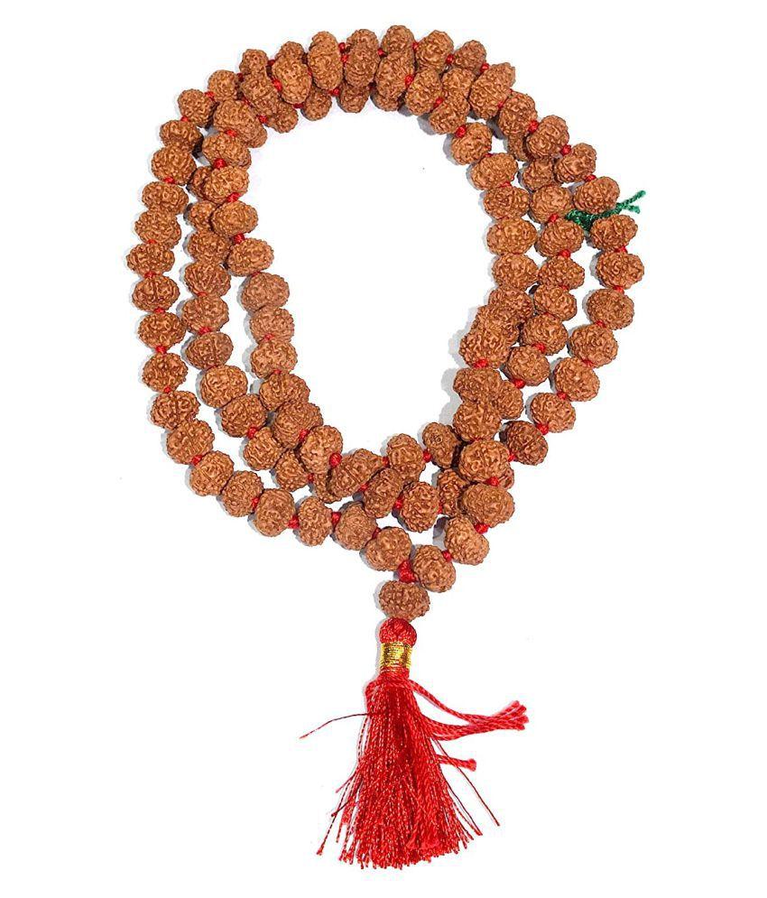 Rudradivine 8 Mukhi Indonesian Rudraksha Mala 108 Beads 10mm-12mm With Lab Report 8 Mukhi Asthavinayaka Rudraksha Mala 8 Faced Rrudraksha Mala