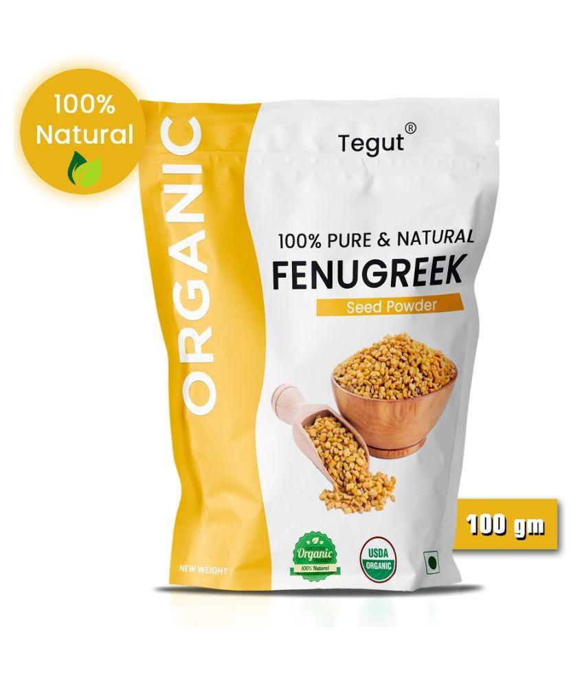 Tegut Pure Organic Methi dana Powder ( Fenugreek Powder ) 100g (Pack of 1)