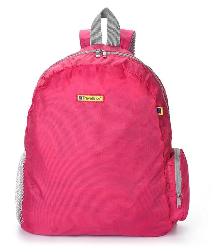 Travel Blue Pink Polyester College Bag