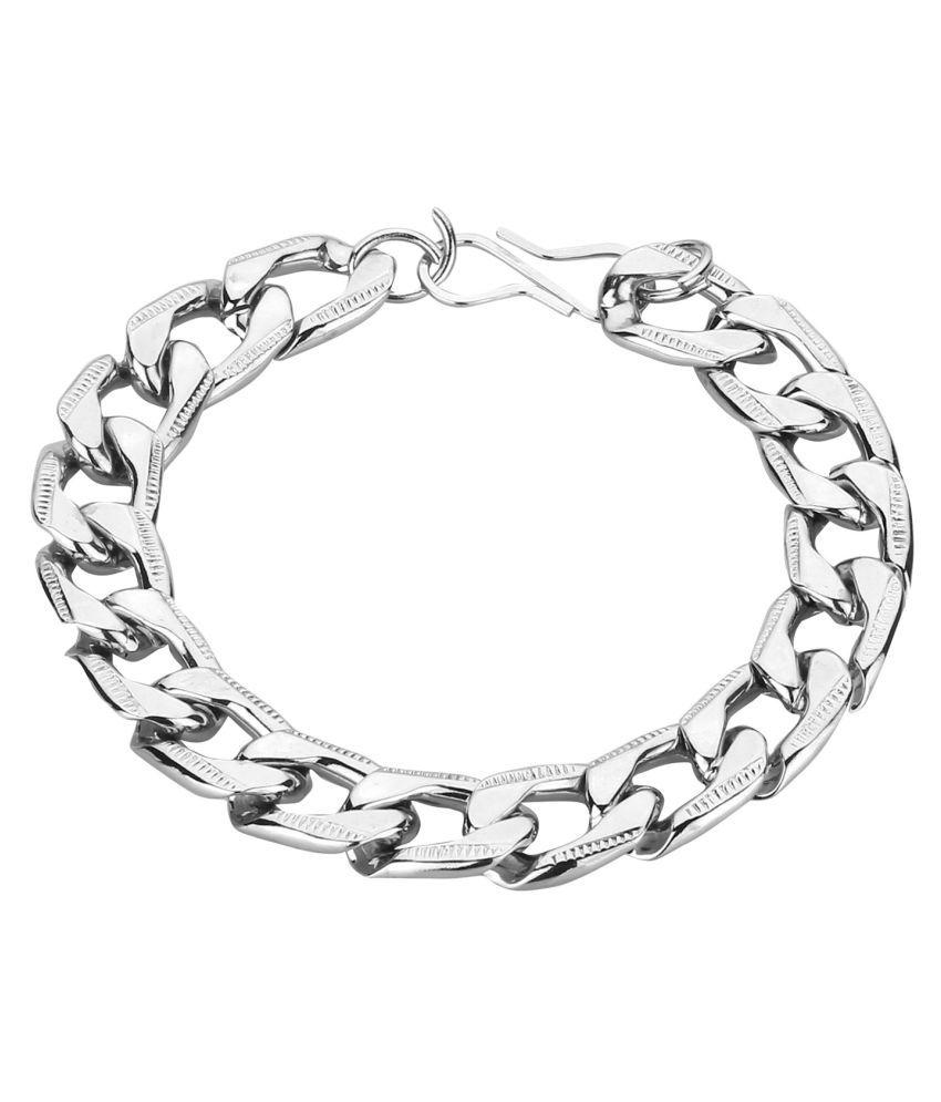 CreateAwitty INC. Mens Bracelet heavy 9 Inch Long Link Plated Boys Mens Gents Salman Bracelet Daily Party Wear
