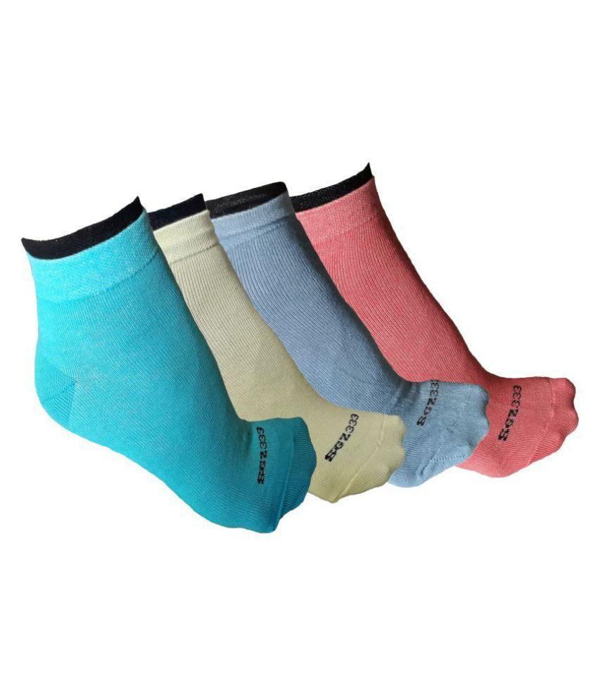 sgz women solid ankle lenght socks