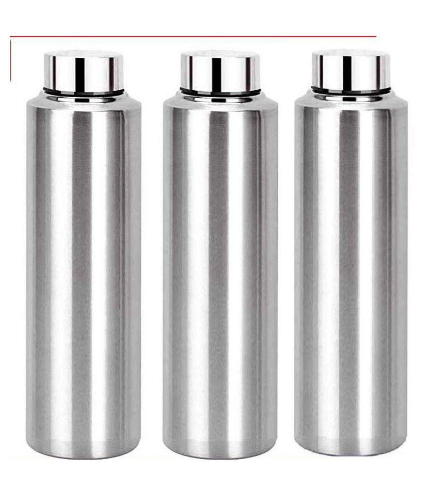 AKG. Buy 2 Get One Free Silver 900 mL Stainless Steel Fridge Bottle set of 3