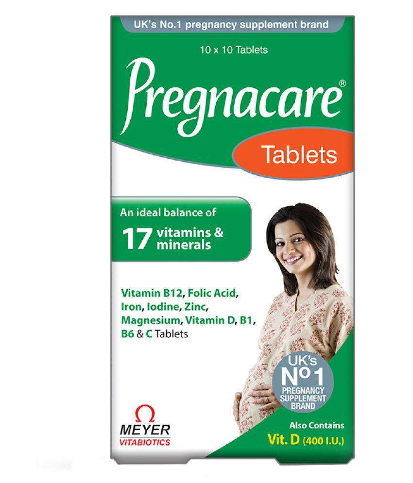 pregnacare  pregnancy supplement 19 vitamins and