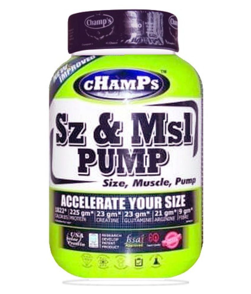 Champs Sz & Msl Pump (1816g) 4 lb Mass Gainer Powder