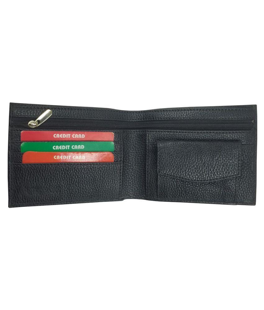 EBEZA Faux Leather Black Sport Anti-theft Wallet